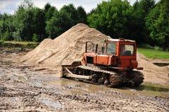 Bulldozer  works Stock Photography