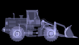 Bulldozer. X-ray Royalty Free Stock Photography