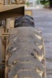 Bulldozergummihjul Arkivfoto
