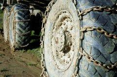 bulldozerhjul Royaltyfri Bild