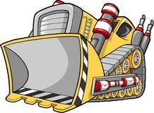 bulldozerillustrationvektor vektor illustrationer