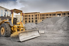 Bulldozerkonstruktionsplats Royaltyfri Bild