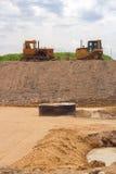Bulldozers Stock Image