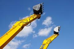 Bulldozers to shovel royalty free stock photography