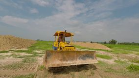 Bulldozers Tractors Royalty Free Stock Images