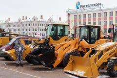 Bulldozers. stock image