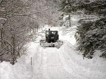Bulldozers and winter Royalty Free Stock Images