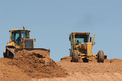 Bulldozers at work Stock Photo