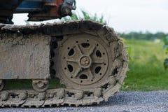 bulldozerspår Royaltyfria Bilder