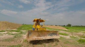 Bulldozertraktorer Royaltyfria Bilder