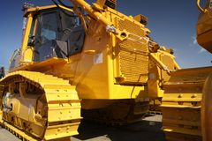 bulldozeryellow Royaltyfria Bilder