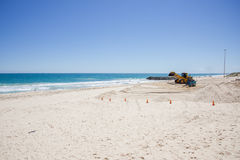 Bulldozing the Beach Stock Photography