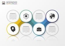 Bulle abstraite de la parole infographic descripteur moderne de conception Vecteur Images stock