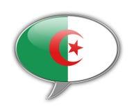 Bulle algérienne de la parole de drapeau illustration libre de droits
