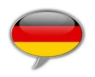 Bulle allemande de la parole de drapeau Photo stock