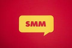 Bulle avec le mot de SMM Photographie stock libre de droits