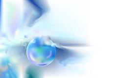 bulle bleue de fond Photographie stock