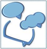 Bulle bleue de la parole avec un cadre - vecteur Photo stock