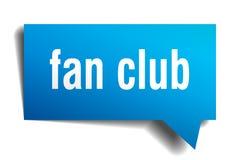Bulle bleue de la parole 3d de club de fan Images stock