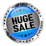 Bulle bleue de la parole de vente énorme dans l'illustration comique de style illustration stock