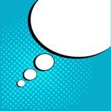 Bulle comique de la parole vide blanche avec des points Illustration de vecteur dans le bruit Art Style illustration libre de droits