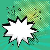 Bulle comique de la parole vide blanche avec des ?toiles et des points Illustration de vecteur dans le bruit Art Style illustration libre de droits