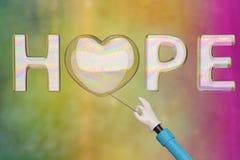 Bulle d'espoir sur le fond coloré illustration 3D illustration de vecteur