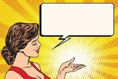 Bulle de bande dessinée de prévision de fille illustration libre de droits