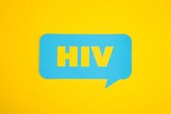 Bulle de carton d'HIV Image stock