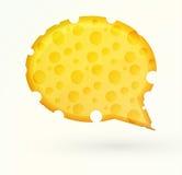 Bulle de causerie de fromage Photographie stock libre de droits