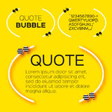 Bulle de citation Image libre de droits