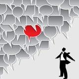 Bulle de la parole avec l'homme d'affaires Images libres de droits
