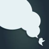 Bulle de la parole avec l'illustration de corneille de la corneille avec Images libres de droits