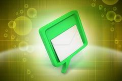 Bulle de la parole avec le courrier Image libre de droits