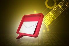 Bulle de la parole avec le courrier Image stock