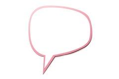 Bulle de la parole comme nuage avec la frontière rose d'isolement sur le fond blanc Copiez l'espace Images stock