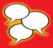Bulle de la parole d'art de bruit Image libre de droits