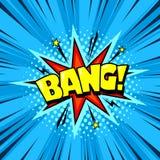 Bulle de la parole de bande dessinée de super héros, effet sonore d'explosion illustration stock