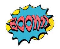 Bulle de la parole de boom dans le rétro style Photographie stock