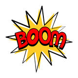 Bulle de la parole de boom dans le rétro style Photo stock