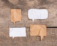 Bulle de papier de la parole Images stock