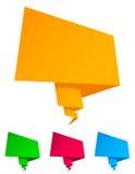 Bulle de papier de la parole d'origami Photos libres de droits
