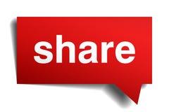 Bulle de papier réaliste rouge de la parole 3d de part Photos libres de droits
