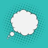 Bulle de pensées Style de bandes dessinées d'art de bruit L'image tramée pointille le fond illustration stock
