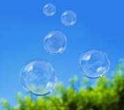 Bulle de savon sur le ciel bleu Photo libre de droits