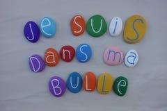 Bulle del mA de los dans de los suis de Je, frase francesa de la gente de los suburbios foto de archivo libre de regalías
