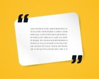 Bulle des textes de citation Virgules, note, message et illustration libre de droits