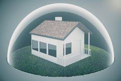 Bulle immobilière sur la lumière illustration de vecteur