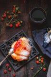 Bulle med hemlagat jordgubbedriftstopp Royaltyfri Fotografi