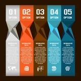 Bulle moderne de la parole d'abrégé sur vecteur infographic Photo libre de droits